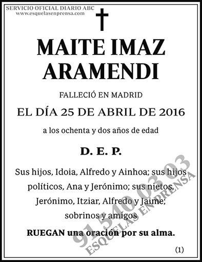 Maite Imaz Aramendi
